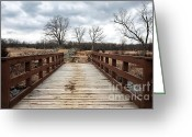 Winter Photos Greeting Cards - Crossing Over Greeting Card by John Rizzuto