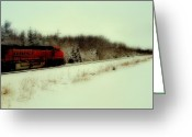 Freight Greeting Cards - Drifting Greeting Card by Tom Druin