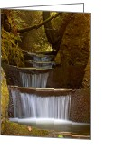 Cascading Greeting Cards - Endless Waterfall Greeting Card by Lara Ellis