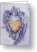 Value Greeting Cards - God Is Love Greeting Card by Connie Lynn Pico
