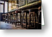 Pubs Greeting Cards - Have a Seat Greeting Card by Heather Applegate