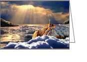 Rising From Earth Greeting Cards - Heavenly Ascension Greeting Card by Ronald Chambers