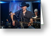 Hall Of Fame Photo Greeting Cards - Jason Aldean Greeting Card by Don Olea