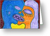 Dna Greeting Cards - Kiss Greeting Card by Patrick J Murphy