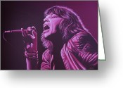 Sticky Fingers Greeting Cards - Mick Jagger Greeting Card by Paul Meijering
