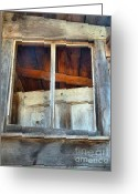 Cabin Window Greeting Cards - Mix Up Greeting Card by Lauren Hunter