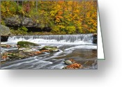 Ebb And Flow Greeting Cards - Olmstead Falls Ohio Greeting Card by Robert Harmon