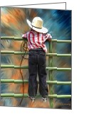 Cowboy Digital Art Greeting Cards - One Day Soon Greeting Card by Robert Albrecht