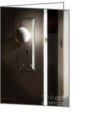 Knob Greeting Cards - Open Door Greeting Card by Jill Battaglia