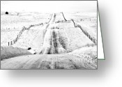 Snowscape Greeting Cards - Over The Hill And Far Away Greeting Card by Theresa Tahara