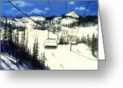 "\""colorado Resort\\\"" Greeting Cards - Paradise Bowl Greeting Card by Barbara Jewell"