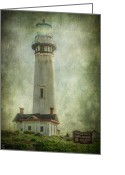 Signal Photo Greeting Cards - Pigeon Point Light Station Greeting Card by Erik Brede