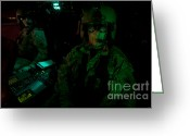Featured Greeting Cards - Pilots Equipped With Night Vision Greeting Card by Terry Moore