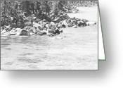 Forested Greeting Cards - Pines Boulders And Crystal Waters Of Lake Tahoe Greeting Card by Frank Wilson