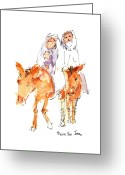 "\\\""texas Artist\\\\\\\"" Greeting Cards - Praise You Jesus Greeting Card by Kathleen McElwaine"