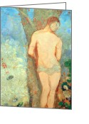 Redon Greeting Cards - Redons Saint Sebastian Greeting Card by Cora Wandel