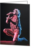 Dolly Parton Greeting Cards - Rod Stewart Greeting Card by Paul Meijering