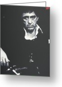 Cult Film Painting Greeting Cards - Scarface 2013 Greeting Card by Luis Ludzska