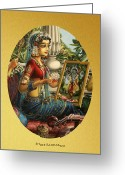 Vrindavan Das Greeting Cards - Shree Radharani Greeting Card by Vrindavan Das