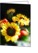 Thanksgiving Art Greeting Cards - Sunflowers Greeting Card by Irina Sztukowski