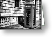 Phone Booth Greeting Cards - Telephone Greeting Card by John Rizzuto
