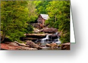 Babcock Greeting Cards - The Grist Mill painted  Greeting Card by Steve Harrington