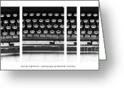 Typewriter Keys Photo Greeting Cards - Vintage Typewriter Greeting Card by Edward Fielding