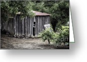 Forlorn Greeting Cards - Watercolor Barn Greeting Card by Joan Carroll