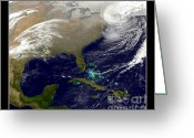 Storm Prints Photo Greeting Cards - 2013 Blizzard in Northeast NASA Greeting Card by Rose Santuci-Sofranko