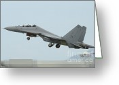 Featured Greeting Cards - A Sukhoi Su-30mkm Of The Royal Greeting Card by Remo Guidi