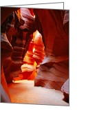Landscape Posters Greeting Cards - Antelope Canyon  Greeting Card by Aidan Moran