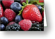Whole Greeting Cards - Assorted fresh berries Greeting Card by Elena Elisseeva