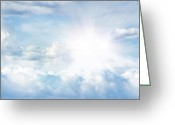 Nature Photograph Greeting Cards - Bright sky Greeting Card by Les Cunliffe