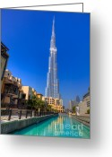 Souk Greeting Cards - Burj Khalifa Dubai Greeting Card by Fototrav Print