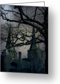 Vampire Greeting Cards - Castle Greeting Card by Joana Kruse