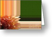 Color Image Painting Greeting Cards - Dahlia named Intrepid Greeting Card by J McCombie