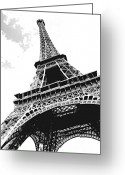 Architecture Tapestries Textiles Greeting Cards - Eiffel tower Greeting Card by Elena Elisseeva