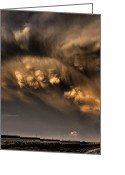 Rain Cloud Greeting Cards - Fist of Hail Greeting Card by Zach  Roberts