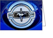 American Vintage Greeting Cards - Ford Mustang Emblem Greeting Card by Jill Reger