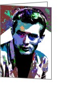 Star Greeting Cards - James Dean Greeting Card by Allen Glass