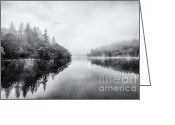 Scottish Art Greeting Cards - Loch Ard Greeting Card by John Farnan