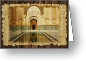 Rabat Painting Greeting Cards - Medina of Marakkesh Greeting Card by Catf