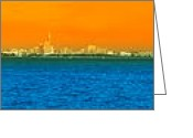 Sea View Greeting Cards - Pattaya Scenic Greeting Card by Atiketta Sangasaeng