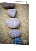 Contemplative Greeting Cards - Pebbles Greeting Card by Frank Tschakert