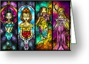Woman Digital Art Greeting Cards - The Princessess Greeting Card by Mandie Manzano
