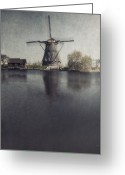 Old Mills Greeting Cards - Windmill  Greeting Card by Joana Kruse