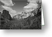 Trees And Rock Cliffs Greeting Cards - Yosemite National Park Greeting Card by RicardMN Photography