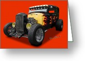 Lake Low Country Greeting Cards - 31 Model A Ford Greeting Card by Chas Sinklier