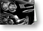 1958 Chevrolet Greeting Cards - 1958 Chevy Impala Greeting Card by David Patterson