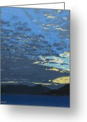 Scottish Art Greeting Cards - After sunset Greeting Card by Malcolm Warrilow